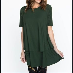 Agnes & Dora Green TWO Tiered Top